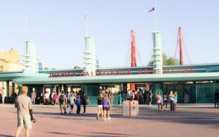 Tada! The new entrance of Disney's California Adventure