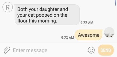 Poop Text Message