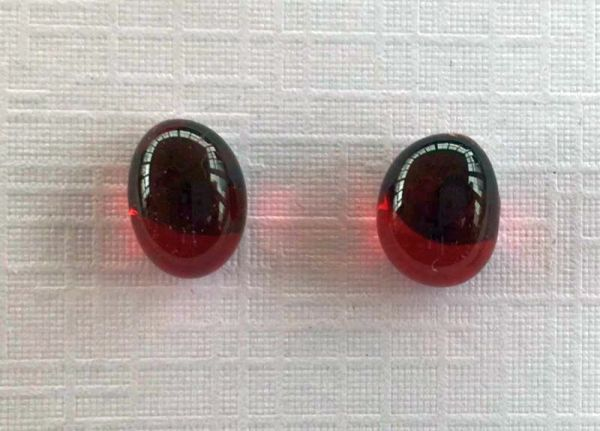 red glass earrings hypoallergenic studs suzanne o'sullivan