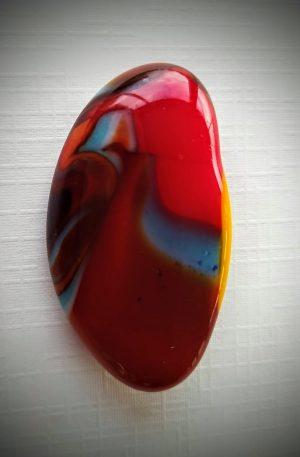 Suzy glass art brooch
