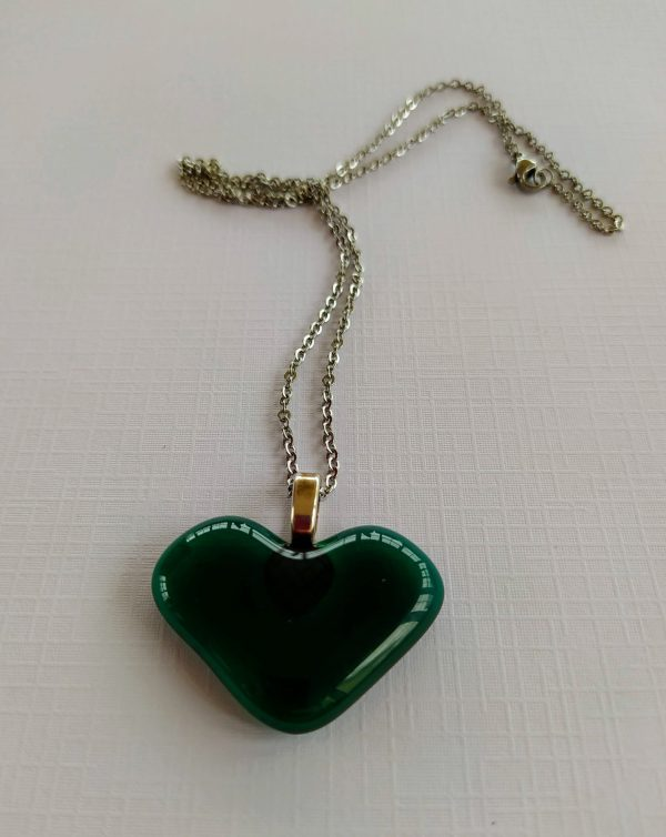 Green Glass Heart