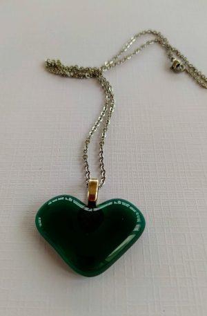 Green Glass Heart