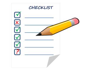 checklist voor een blog