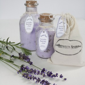 Suzanne's soaps Heavenly Lavender bath salt & mineral soak