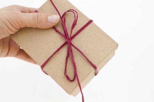 Beard oil gift box wrapped