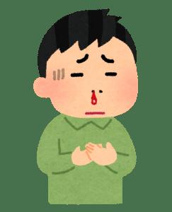 鼻水に血が混じる人