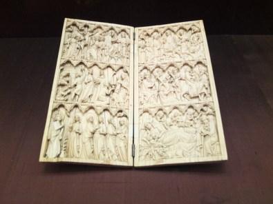 Ivory diptych, c 1300.