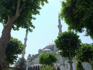 The beautiful Blue Mosque - which is as impressive outside as it is underwhelming inside.