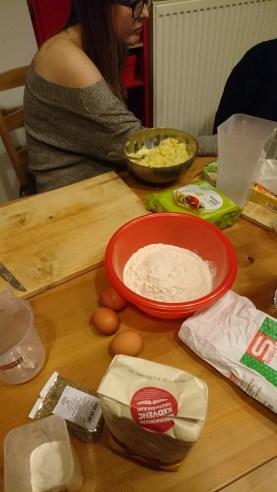 Ingredients all set to make gnocchi!