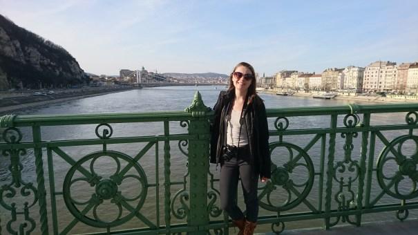 Anika on the Liberty Bridge