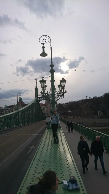 Maddie on the Liberty Bridge