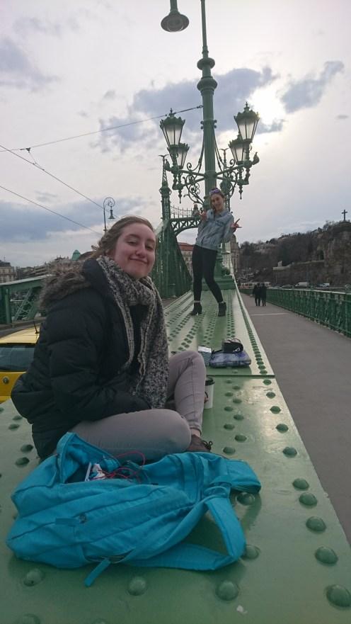 Christine and Maddie on the Liberty Bridge