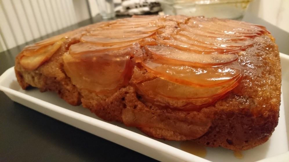 Spiced upside down apple cake