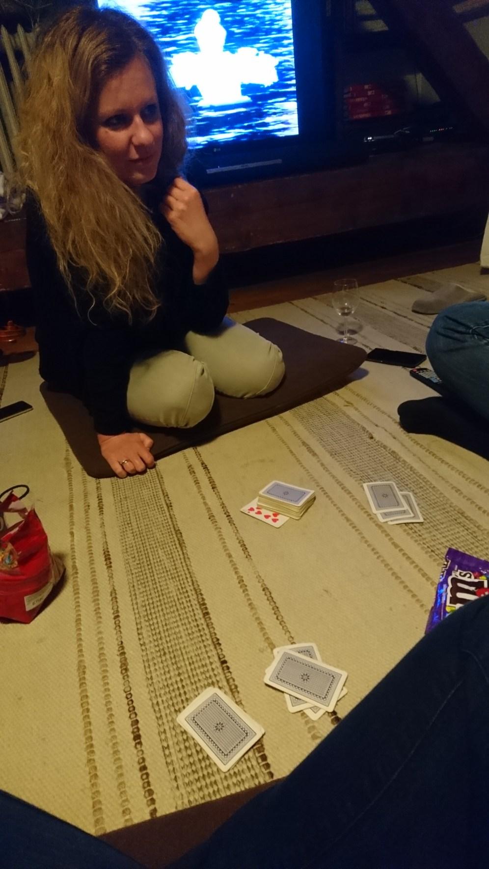 Playing Rikiki with Klári