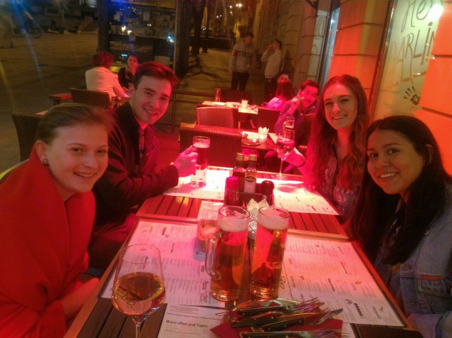 Dinner at Lezser with Holly, Alex, Maddie and Nina
