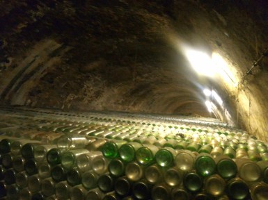 About 180,000 bottles used to make pezsgő