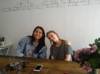Nina and Holly at Streat