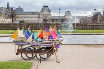 Toy boats at the Tuilleries