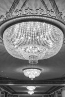 Chandelier in the Palmer House Hotel Chicago