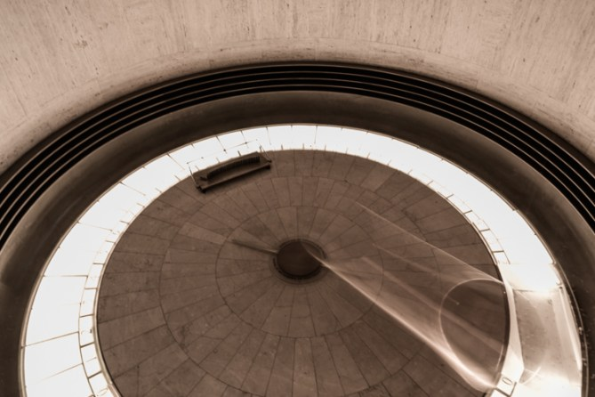 Foucault Pendulum in lobby of Griffith Observatory