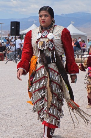 PowWow Woman ceremonial chime dress