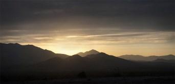 Sunrise over Joshua Tree Mountains