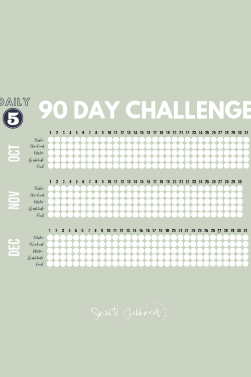 Last 90 Days Challenge: Free Printable Tracker