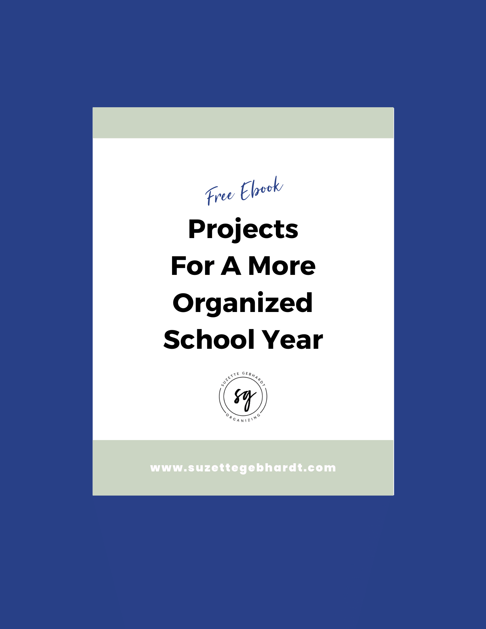 Back To School Organizing Ebook