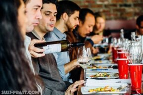 wine tasting Seattle event photography