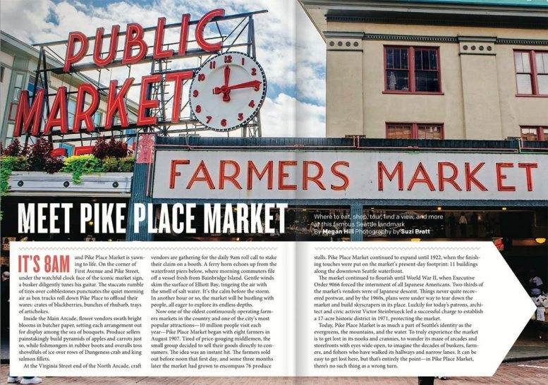 Travel photographer Pike place market