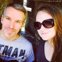 My favourite pic of The Bloke and I - taken at The Tower of London in Aug