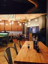 Inside the restaurant