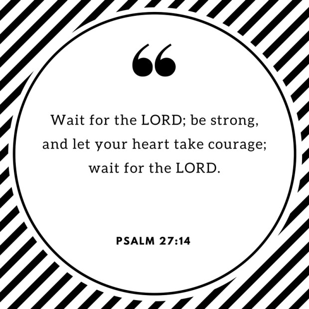 Wait for the LORD; be strong, and let your heart take courage; wait for the LORD.
