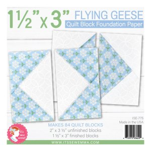 """1.5"""" X 3"""" Flying Geese Foundation Paper ISE-775"""