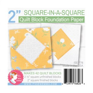 """2"""" Square In Square Foundation Paper ISE-778"""