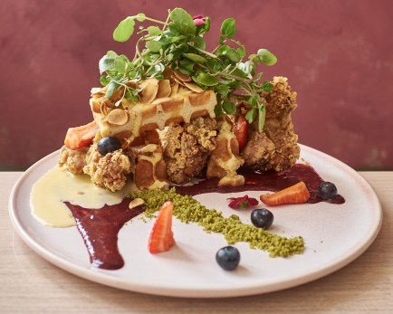 Chicken and Waffles at Grand Lafayette Prahran