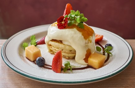 Melon Hotcakes at Grand Lafayette Prahran