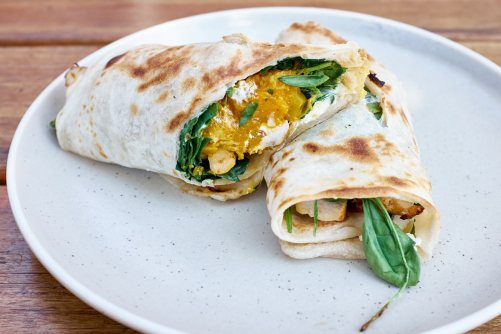 Middle Eastern Roti Wrap - Willis and Anderson Yarraville