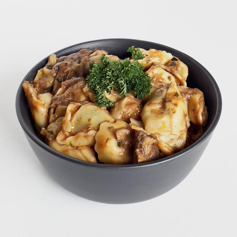 Tortellini with lamb ragout
