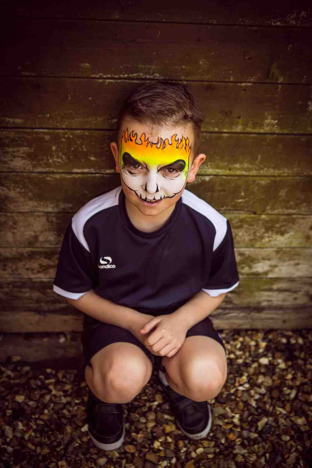 Flaming Skull Face Paint