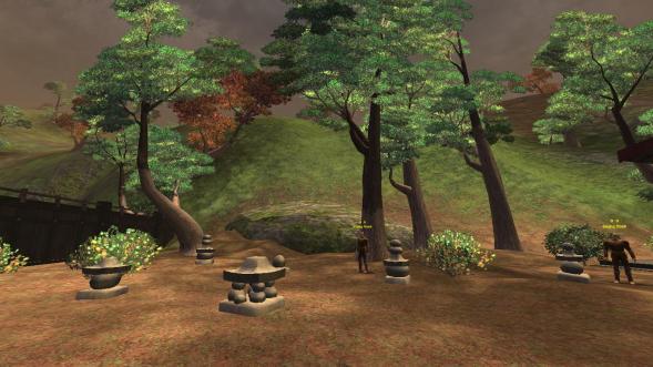 stone piles, half elf starter area