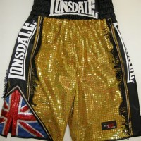 James DeGale Gold Sparkle Boxing Shorts