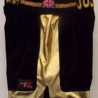 Anthony Joshua Black & Gold Boxing Shorts
