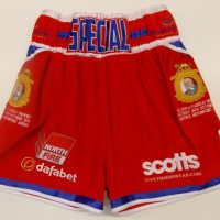 Kell Brook Red British Title Custom Boxing Shorts