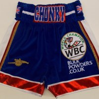 James DeGale Velvet Boxing Trunks