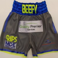 Liam Smith Grey Leather Style Boxing Shorts