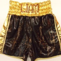 Liam Taylor Brown Snakeskin Boxing Shorts