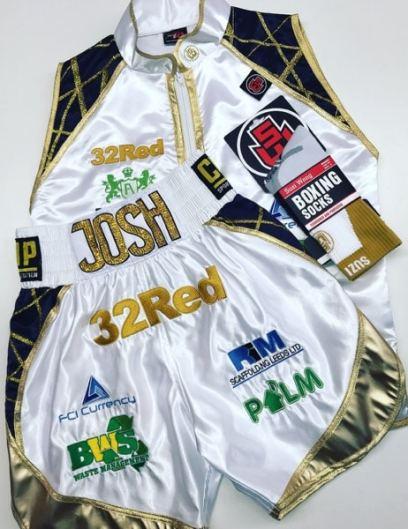 Josh Warrington Boxing Ring Wear including socks