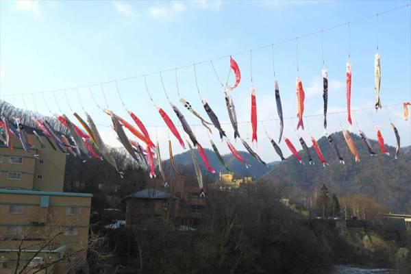 定山渓温泉 鯉のぼり