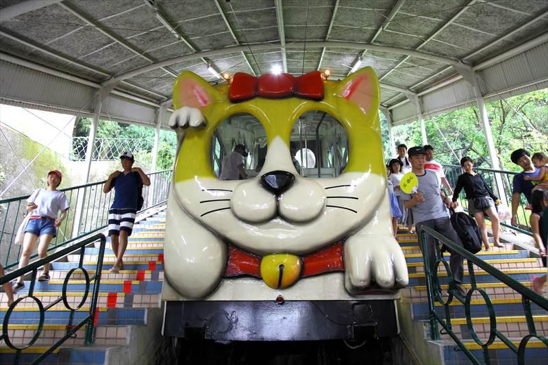 ラクテンチ ケーブルカー 猫